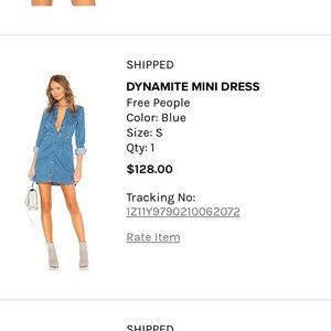 Free People denim dress